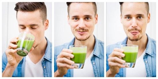 romanfirnkranz mit grünem smoothie