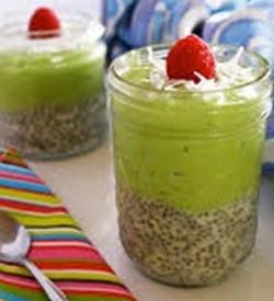 fettleber nachtisch rezept avokado chia
